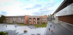 İlkokul Binası ve Avlusu
