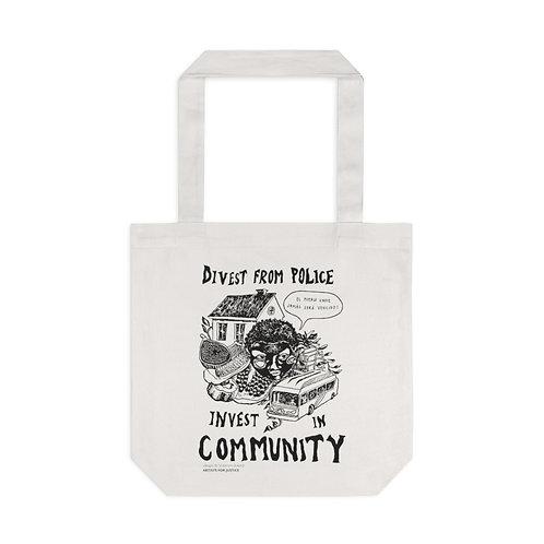 Community Over Cops Tote Bag