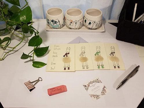 Handmade Llama Cards