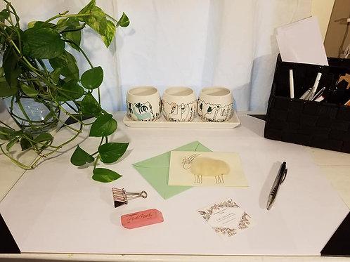 Handmade Alpaca Flower Cards