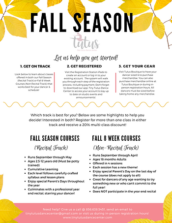 Fall Let us Help you get started Poster.