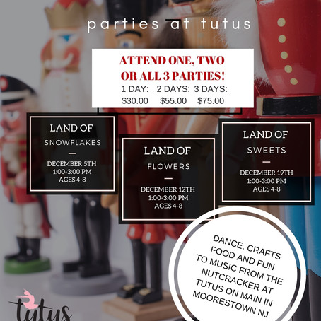 Nutcracker Parties at Tutus!