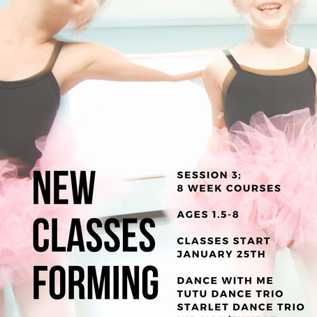 NEW CLASSES START 1/25