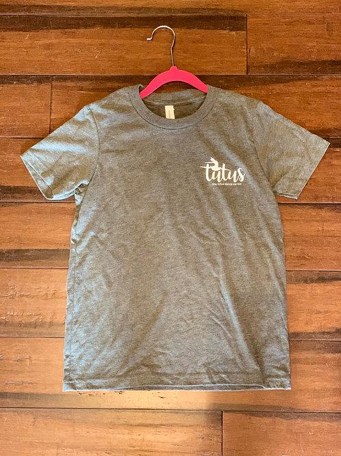 Youth Light Gray Tutus Logo T-Shirt