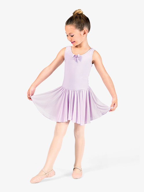 Child Lavender Skirted Leotard