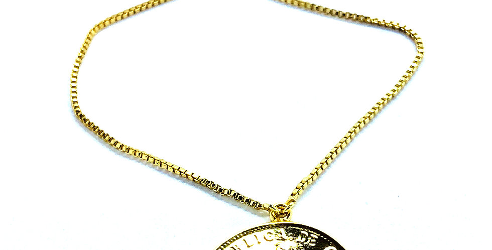 Gold Coin Chain Bracelet