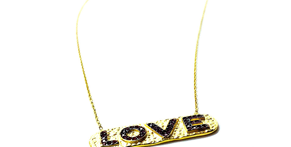 Love Coin Gold over .925 Silver Necklace