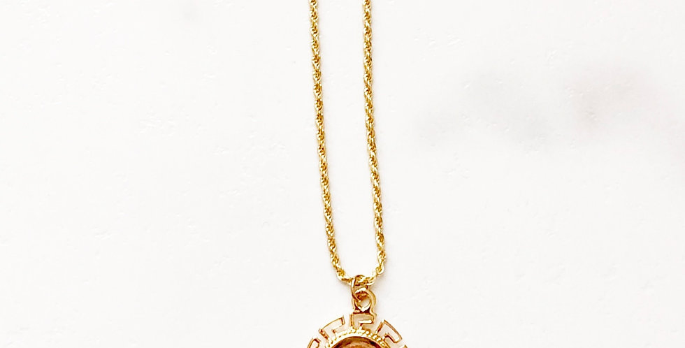 Athena Open Border Coin Necklace