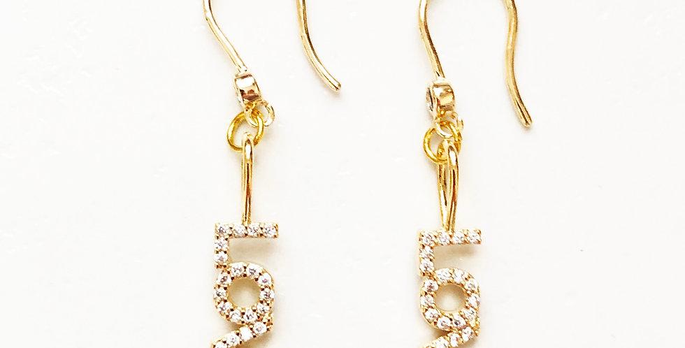 Love CZ Hook Earrings