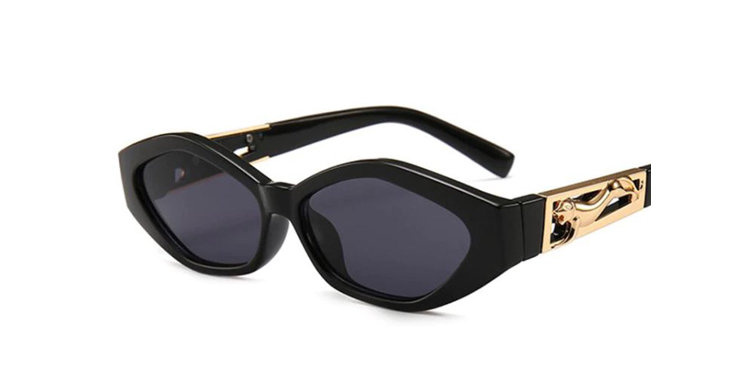 Western Black Leopard Sunglasses