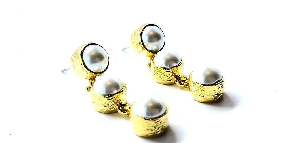Multi Pearl Dangle Earring