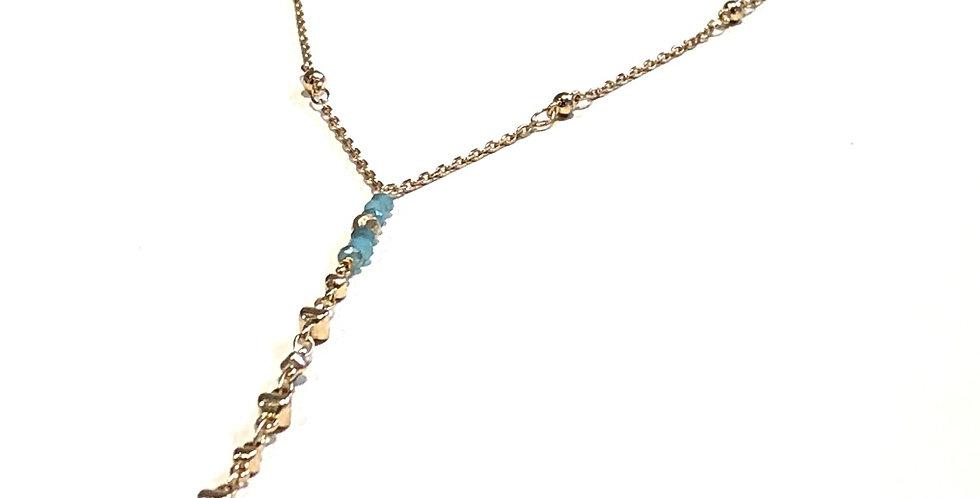 Rosary Amazonite Stone Necklace