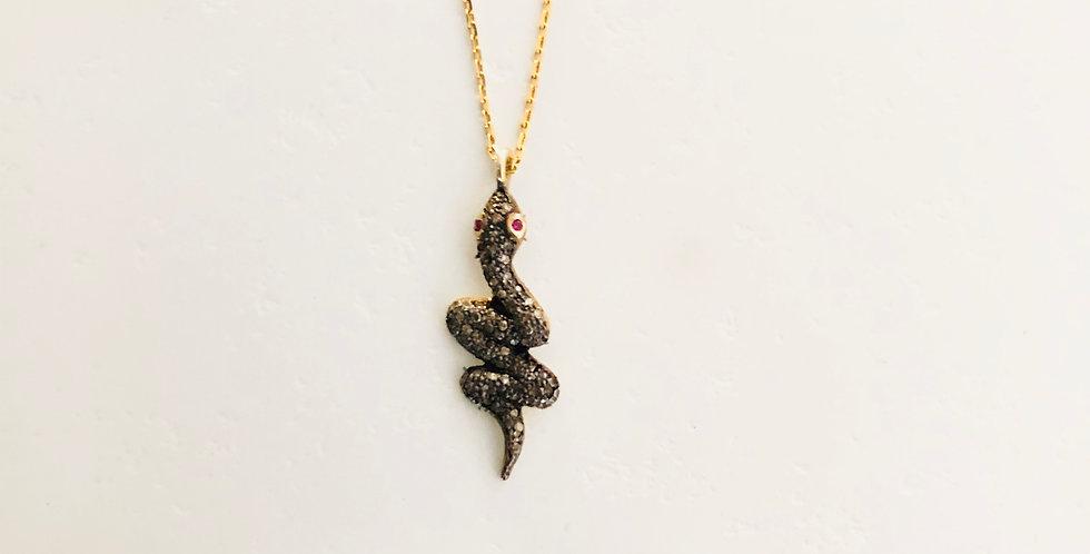 Snake Diamond Necklace