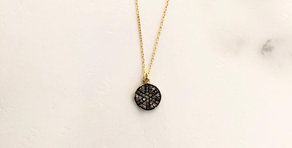 Circle Ripple Diamond Necklace