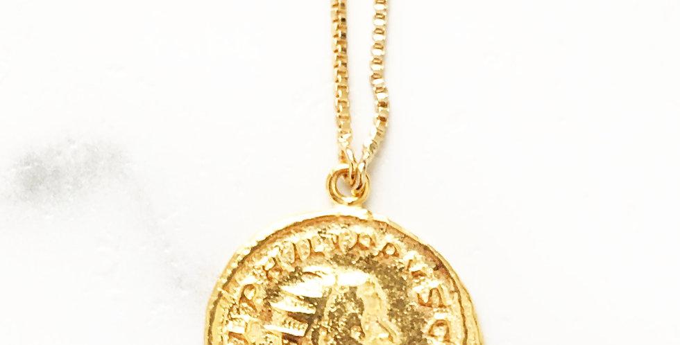 Adjustable Julius Cesar Face Coin Necklace