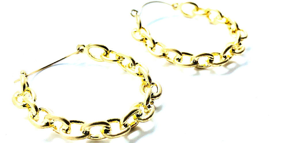 Gold Laces Hoops