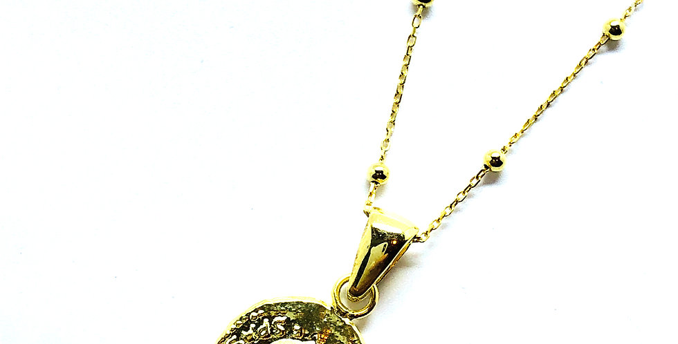 Small Roman Coin Gold over .925 Silver Necklace