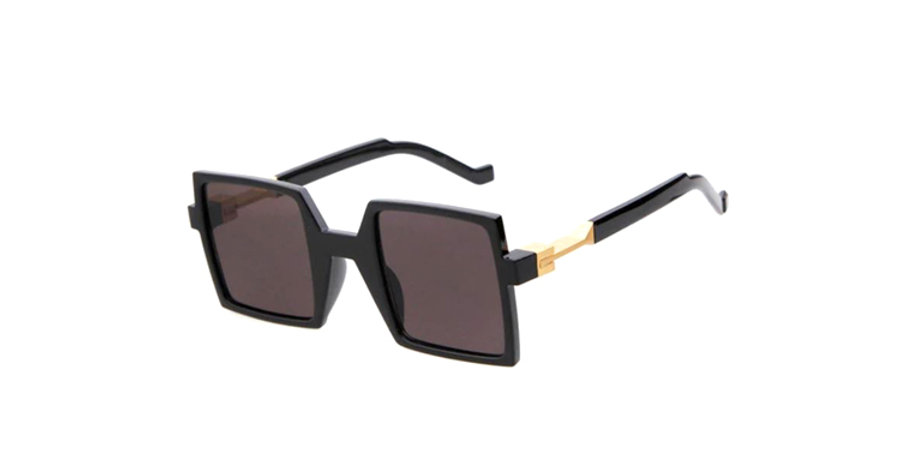 Frame Square Black with Gold Side Sunglasses