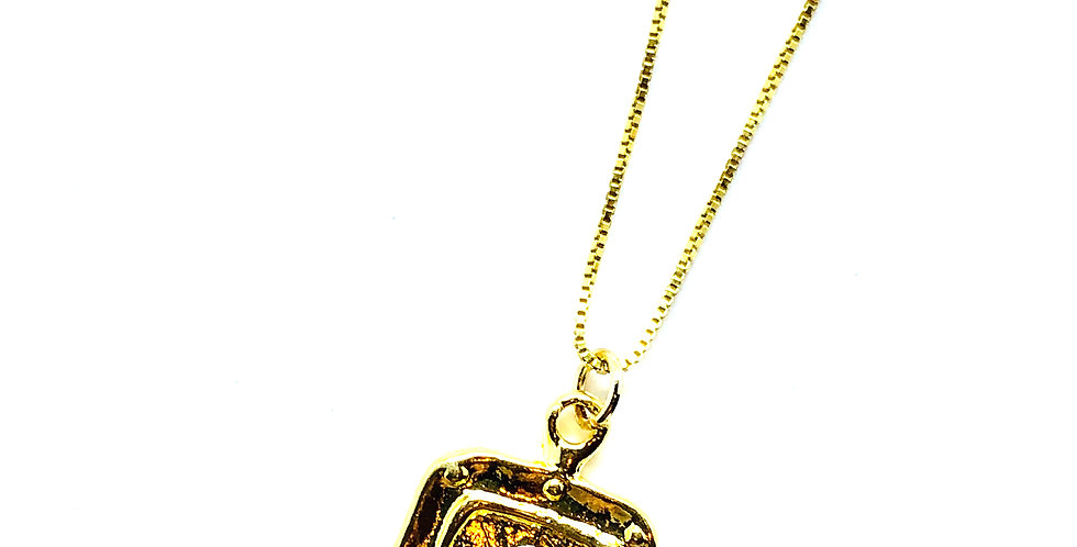 "Pendant on Gold over ""18 .925 Silver Necklace"