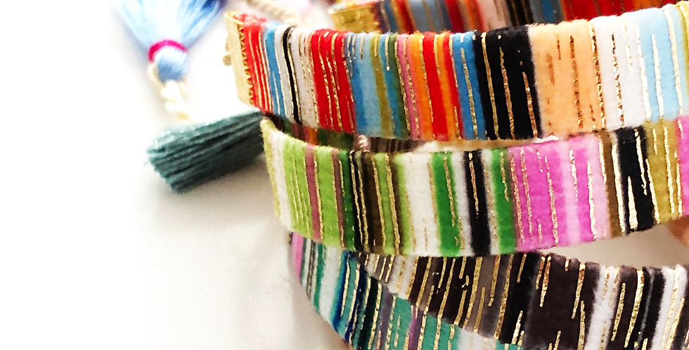 Woven Multi Color Adjustable Bracelet