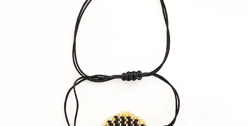 Big Evil Eye Fabric Bracelet