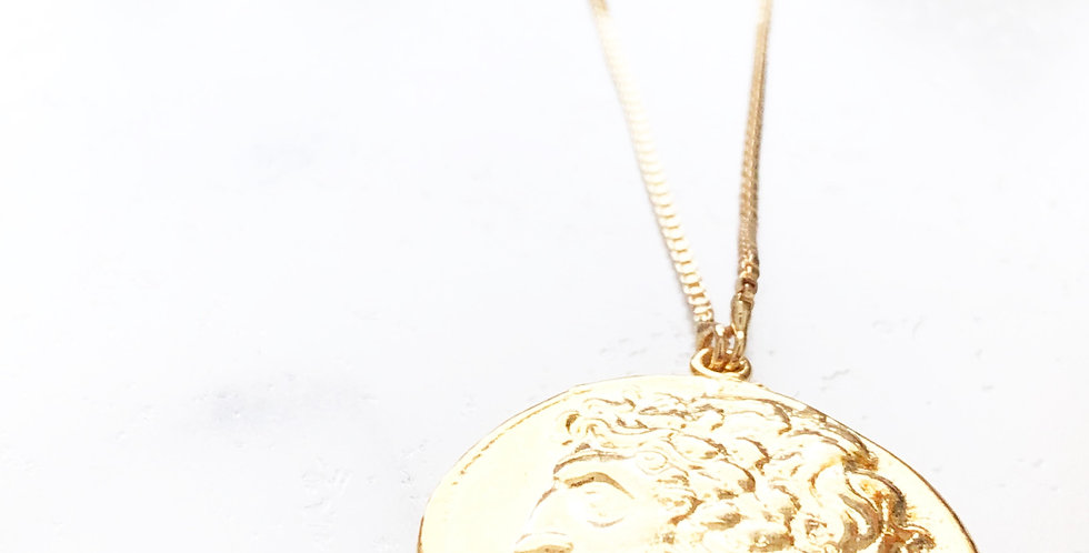 Adjustable Perseus Face Coin Necklace