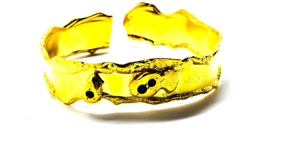 Thick Gold Cuff Bracelet