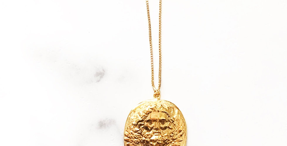 Adjustable Zeus Face Coin Necklace