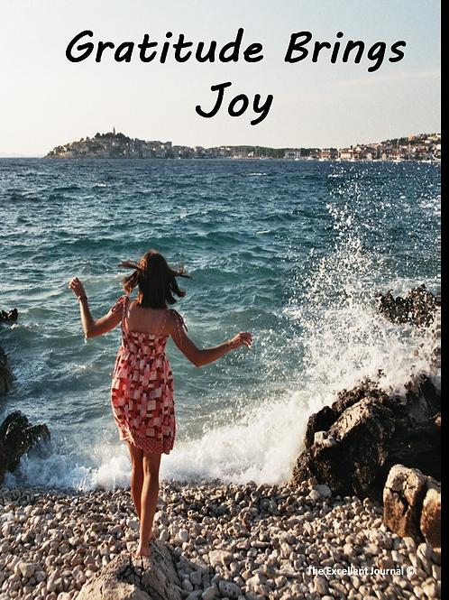 The Excellent Journal   Gratitude Brings Joy