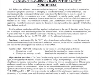 USCG Bar Crossing Hazards Reminder