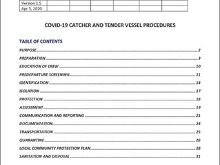 COVID-19 Catcher & Tender Vessel Procedures