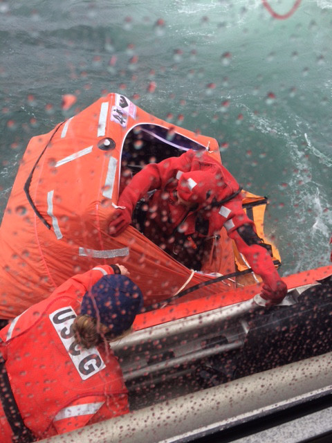 Rescuing the Crew of the F/V Last Stand, Near Cape May, New Jersey, Photo Credit: U.S. Coast Guard