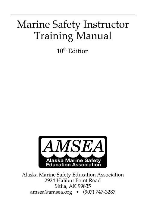 Marine Safety Instructor Training Manual