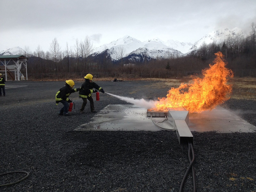 Firefighting training in MSIT