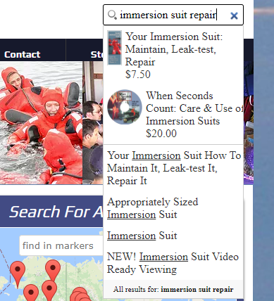 Using the search feature on AMSEA website.