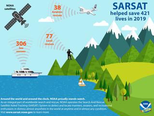 SARSAT System Saved 421 Lives in 2019