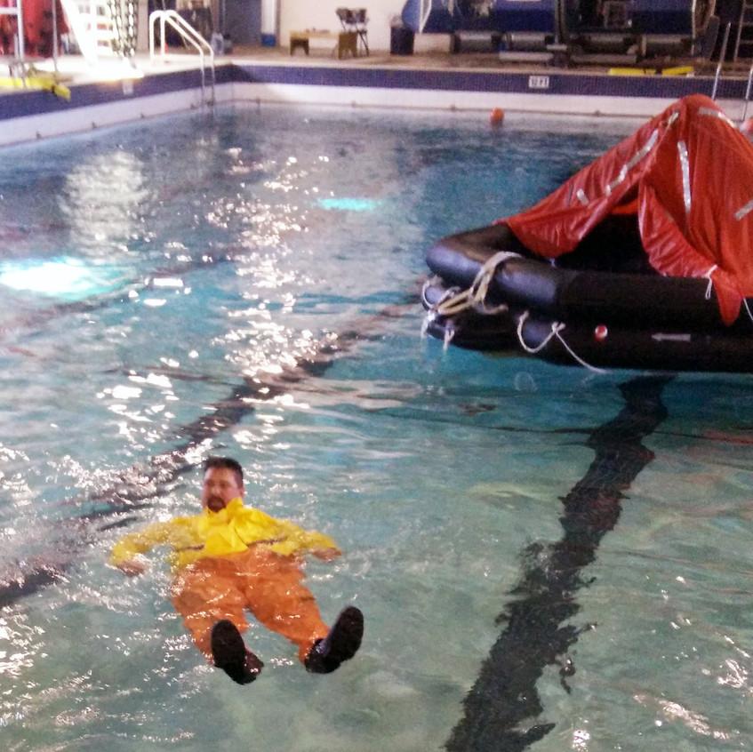 Cold Water Survival Skils Practice