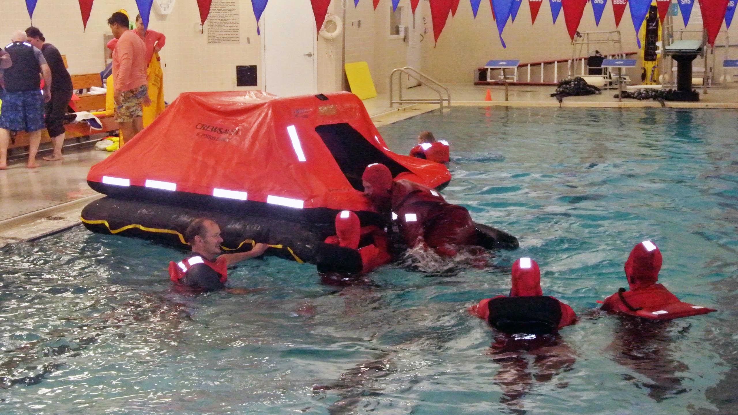 Boarding Life Raft
