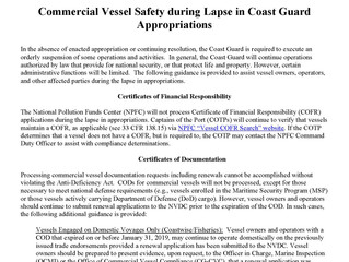USCG Helps Mariners Who Couldn't Get Documentation During Gov't. Shutdown