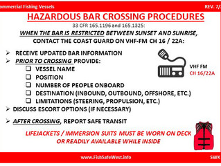 Oregon & Washington Bar Crossing Procedures