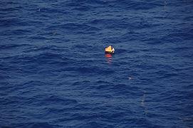 Life raft rescue off the coast of Carteret, North Carolina.