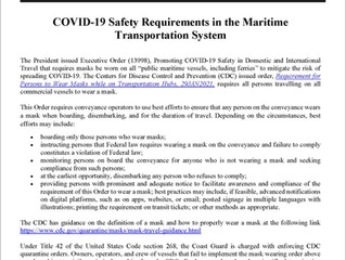 CDC Face Mask Requirement Includes Commercial Fishing Vessels