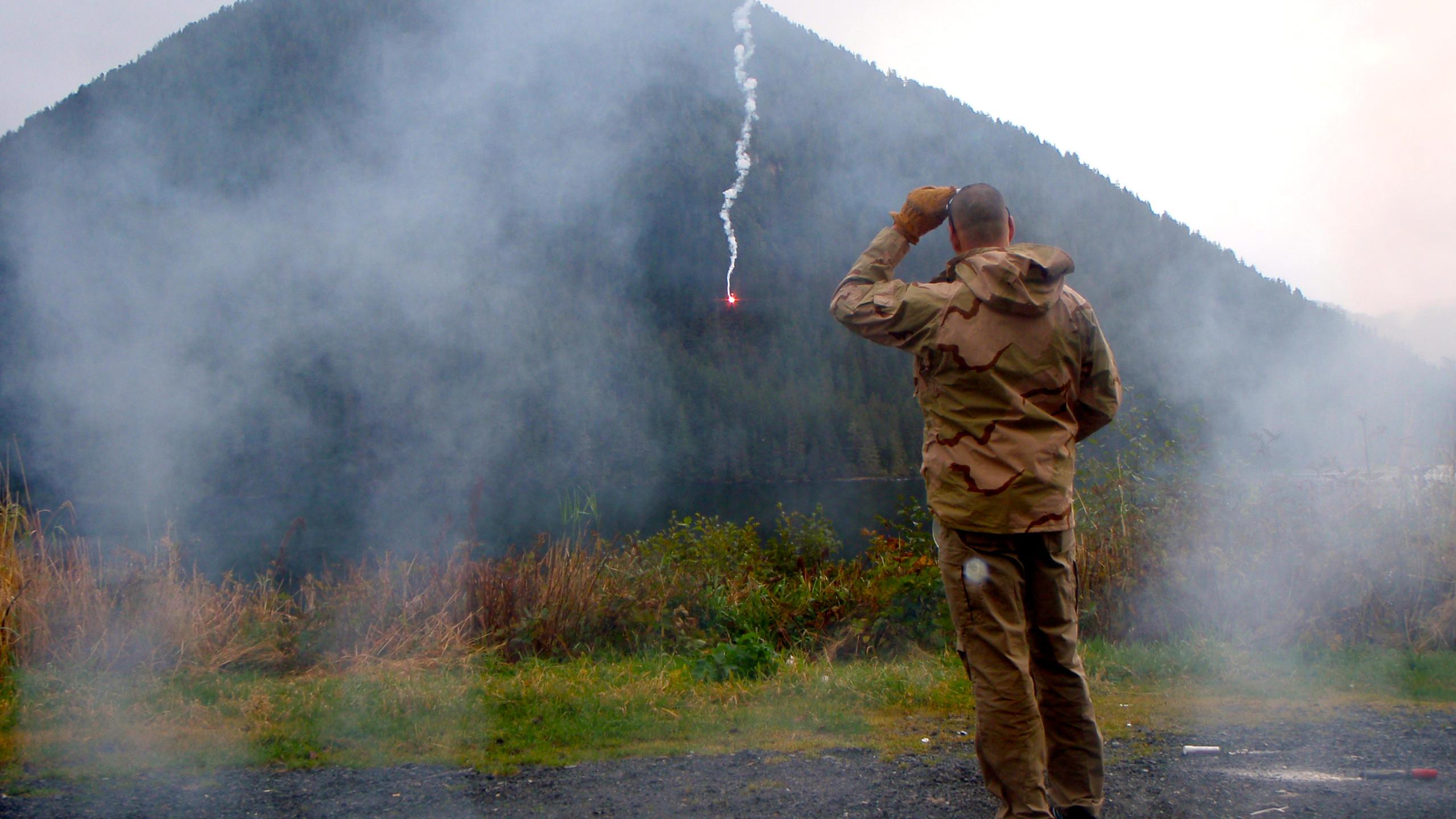 Signal Flare Demonstration