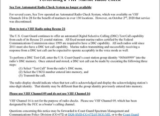 Coast Guard Issues Reminder on How to Perform VHF Radio Checks