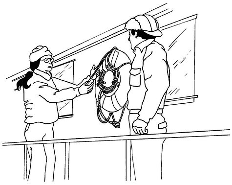 Fishing Vessel Safety Orientation. Show newcomers around the vessel so they will be familiar with its layout and can find safety and survival equipment if an emergency situation arises.
