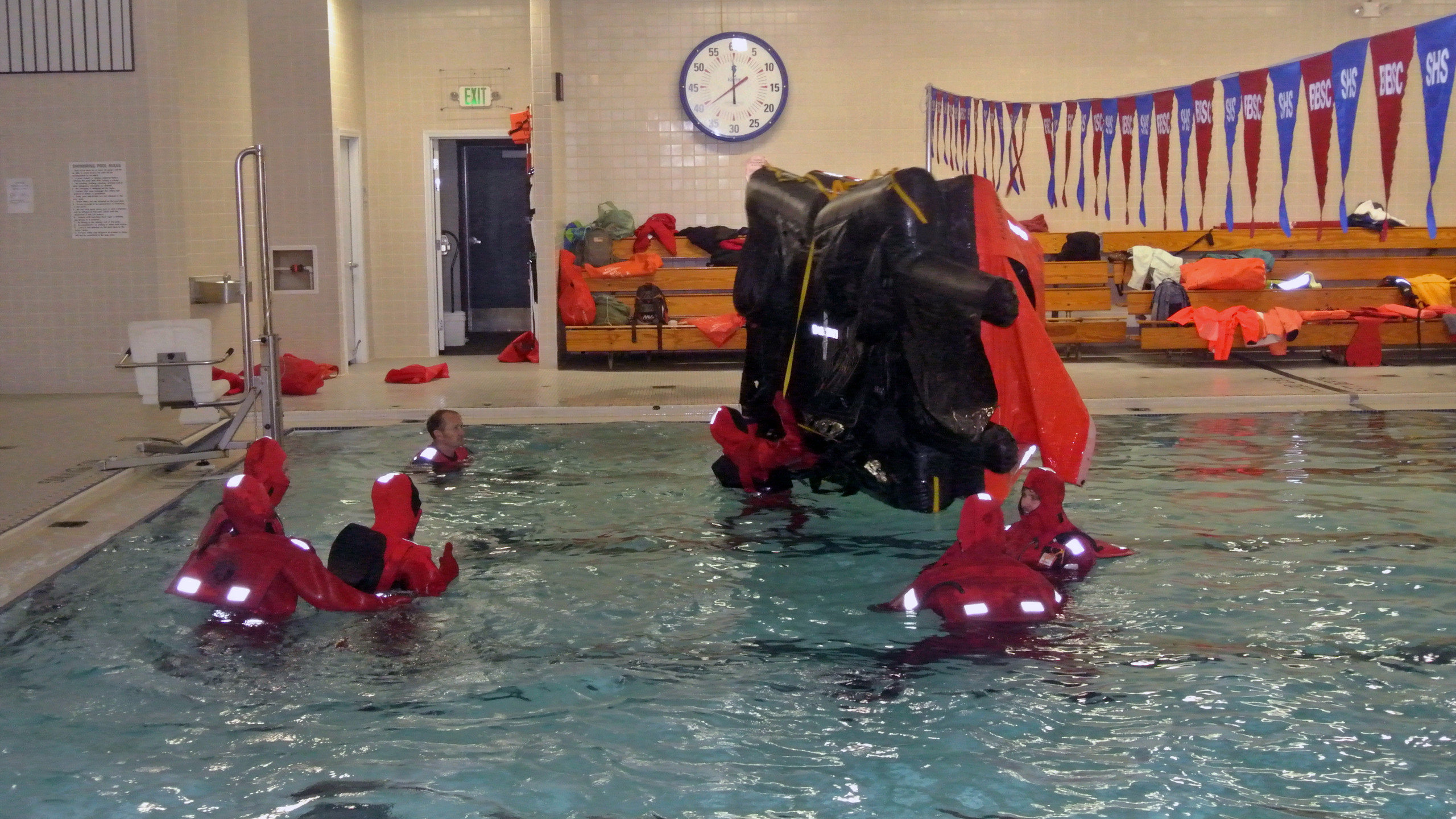 Righting a Life Raft