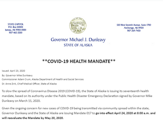Alaska Health Mandate 017: Protective Measures for Independent Commercial Fishing Vessels