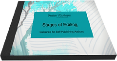 Stages of Editing Book Image with no bac