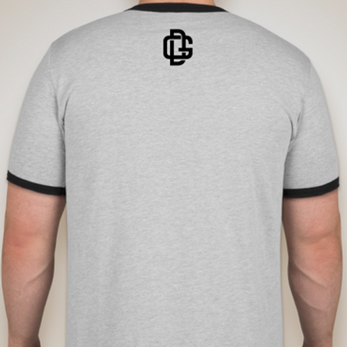 Men's Ringer T-shirt Heather Grey / Black