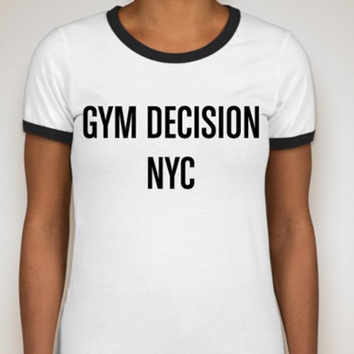 Ladies Ringer T-shirt White / Black